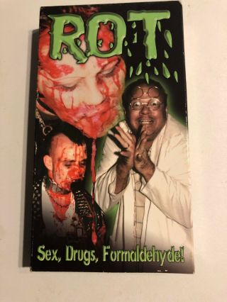 Rot Vhs Video Outlaw Punk Rock Zombies Rare Oop Sov