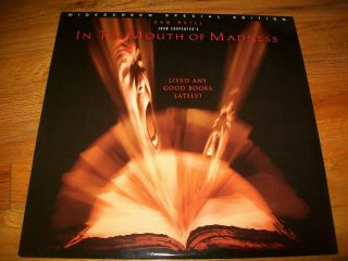 In The Mouth Of Madness Laserdisc Ld Widescreen Special Edition Very Rare