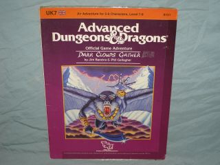 Ad&d 1st Ed Adventure Module - Uk7 Dark Clouds Gather (rare And Hard To Find)