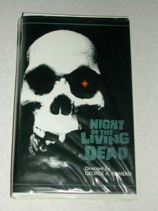 Night Of The Living Dead Rare Oop Vhs Video Tape Big Box Gore Horror Zombies