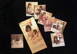 American Girl Samantha 7 Borderless Pamphlets /brochures Copyright 1986 - 88 Rare