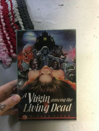 Virgin Among The Living Dead Wizard Horror Sov Slasher Rare Oop Vhs Big Box Slip