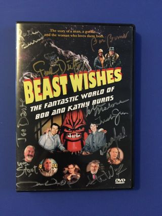 Beast Wishes Dvd Sci Fi Horror Special Fx Effects Makeup Bob Burns Signed Rare
