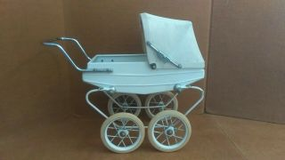 Vintage Rare Doucet Doll Pram Carriage Buggy Made In France.