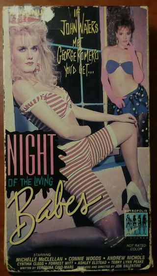 Night Of The Living Babes Vhs 1987 Cult Horror Zombie Hookers Rare Oop