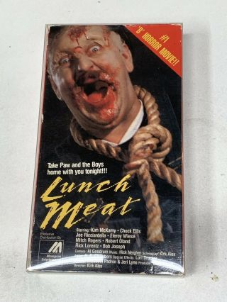 Rare Horror Vhs Lunchmeat (tapeworm /monogram)
