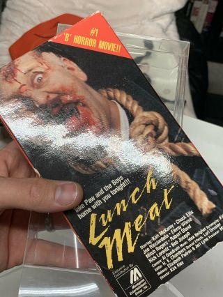 RARE HORROR VHS LUNCHMEAT (Tapeworm /monogram) 5