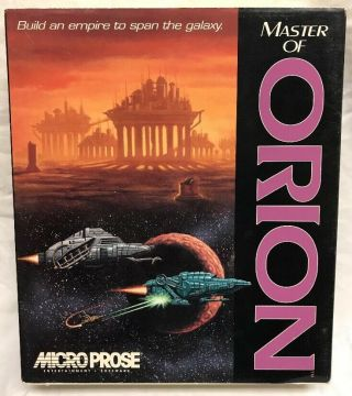 "Rare Master Of Orion Big Box Ibm 3.  5 "" Floppy Pc Game Micropose Complete"
