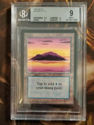 1993 Mtg Beta Island V1 2 Bgs 9.  0 Vintage Magic The Gathering