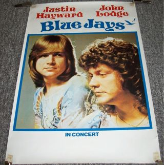 The Moody Blues Blue Jays Fabulous Rare U.  K.  Tour Blank Concert Poster From 1975
