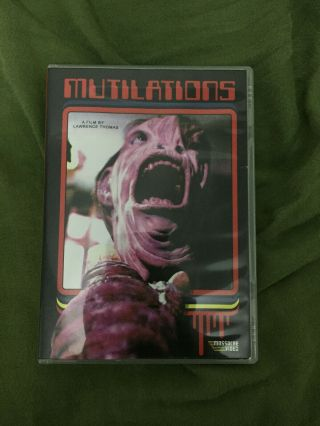Mutilations 1987 Massacre Video Dvd Rare Oop Cover B Limited Of 200 Sov Horror