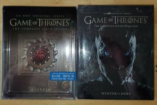 Game Of Thrones Seasons 5 & 7 Bluray Steelbook Rare Edition Please Read
