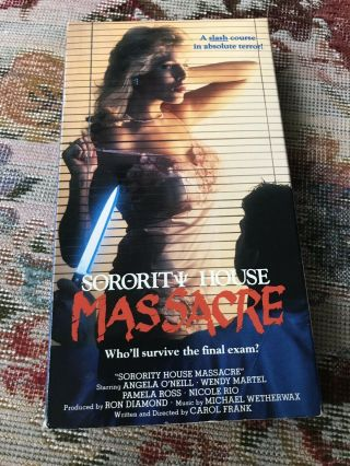 Sorority House Massacre Vhs Horror Slasher Rare Warner Home Video