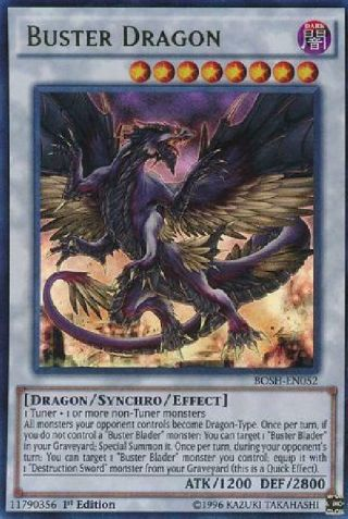 Buster Dragon - Bosh - En052 - Ultra Rare 1st Edition Pl Breakers Of Shadow