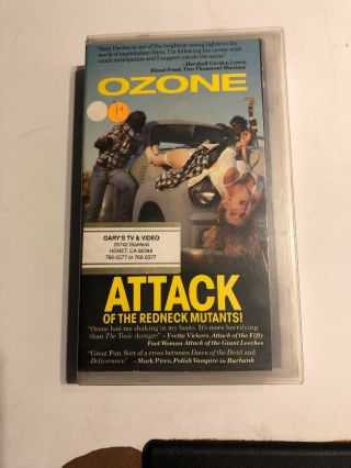 Ozone Attack Of The Redneck Mutants Vhs Muther Video Rare Oop Zombies