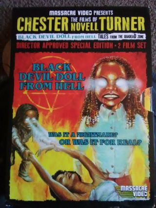 Rare Oop Black Devil Doll From Hell/tales From Quadead Zone Massacre Video Dvd