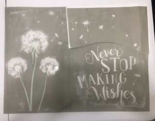 Rare Retired Chalk Couture Never Stop Making Wishes Transfer / Stencil.