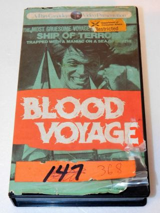 Very Rare Vhs Movie Blood Voyage Pan - Canadian Clam - Shell Horror Htf