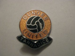 Rare Old Dundee United Football Club Enamel Brooch Pin Badge By Rev Gomm