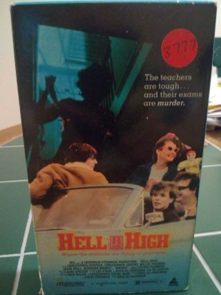 Hell High Vhs Tape Rare Horror/slasher Movie 1989 Prism