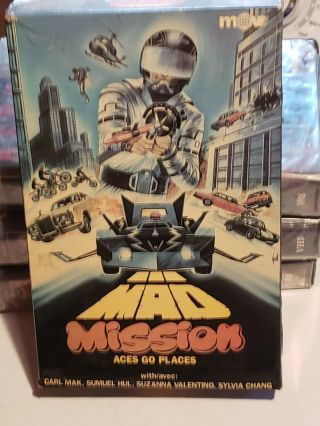 Mad Mission Big Box Vhs Montevideo Entertainment Rare Oop Sci Fi Action