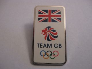 Rare Old 2012 Olympic Games Team Gb Oblong Enamel Press Pin Badge