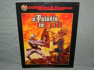 Ad&d 2nd Edition Adventure Module - A Paladin In Hell (very Rare And Exc, )