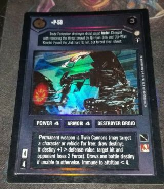 Foil P - 59 Foil From Reflections Iii Swccg Star Wars Ccg Ultra Rare Foil