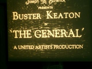 General 1926 Buster Keaton Extremely Rare W/orig Titles & Musical Soundtrack