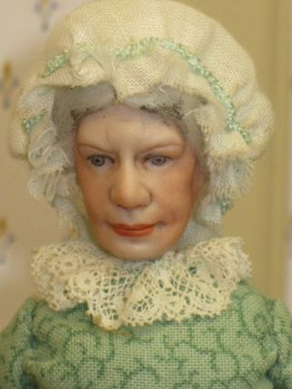 Rare Cookie Ziemba Character Old Lady Doll Soft Body Artisan Dollhouse Miniature