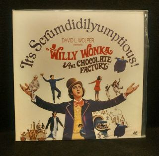 Willy Wonka And The Chocolate Factory Very Rare Ope Matt Release Laserdisc