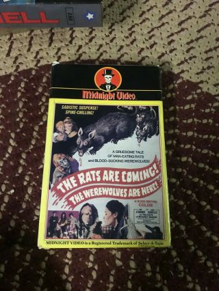 Midnight The Rats Are Coming The Were Wolves Are Here Rare Oop Vhs Big Box Slip