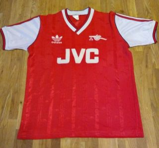 Very Rare Arsenal Home Shirt Child M 1986 - 88 97 - 102cm (adidas / Jvc) Ideal Frame