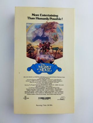 Rare The Muppet Movie (vhs) First Release,  1980,  Collectors Item