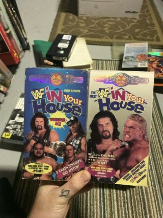 In Your House Vol 1 And 2 Wwe Wwf Wcw Tna Ecw Big Box Slip Rare Oop Vhs