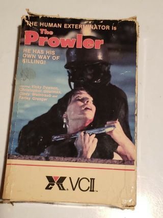 The Prowler Vhs Big Box Rare Oop Horror Slasher