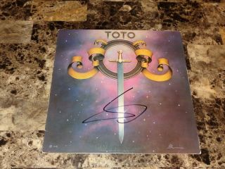 Toto Rare Signed Debut Vinyl Record Steve Lukather Classic Rock Ringo Starr Band