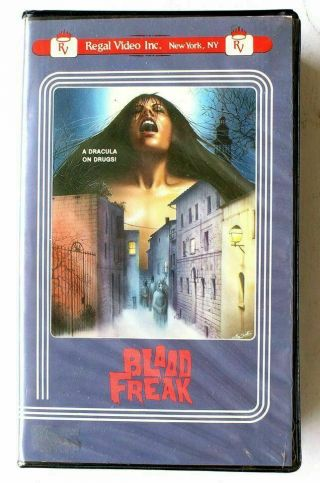 Blood Freak Regal Video Vhs Big Box Clamshell Drugged Out 70