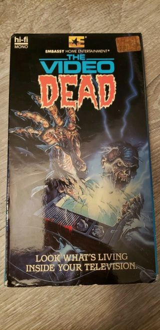 The Video Dead Vhs - Rare Embassy Video Low Budget Zombie Movie