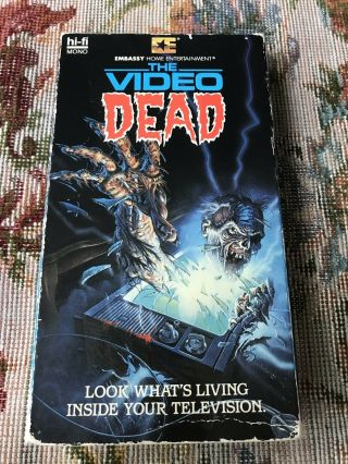 The Video Dead Vhs Horror Rare Zombies Embassy