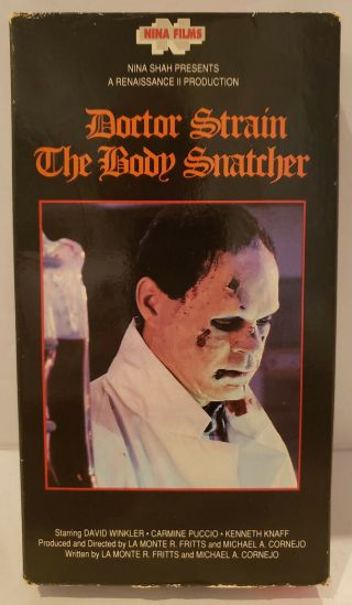 1990 Doctor Strain The Body Snatcher Vhs Movie Cult,  Horror,  Gore,  Alchemy,  Rare