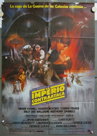 Zq26 Star Wars The Empire Strikes Back Very Rare 1sh Spanish Poster C