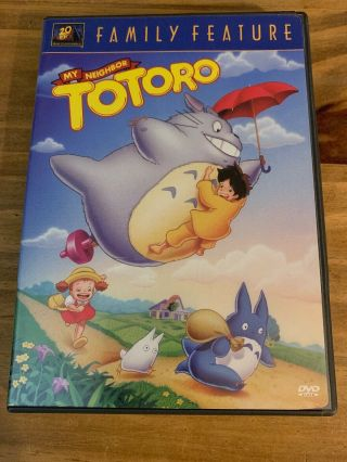 My Neighbor Totoro Dvd,  2002 Fox Family Feature Rare Movie W Insert Htf