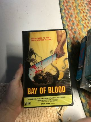 Bay Of Blood Gorgon Video Horror Sov Slasher Rare Oop Vhs Big Box Slip