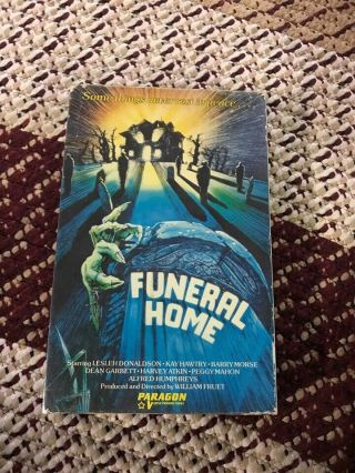 Funeral Home Horror Sov Slasher Rare Oop Vhs Big Box Slip