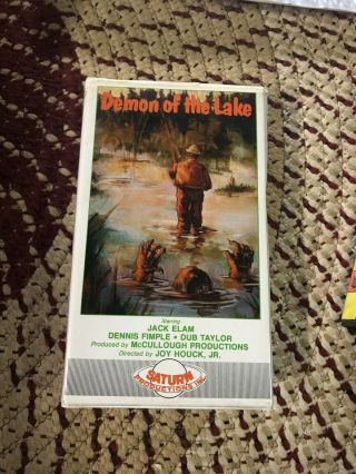 Demon Of The Lake Saturn Horror Sov Slasher Rare Oop Vhs Big Box Slip