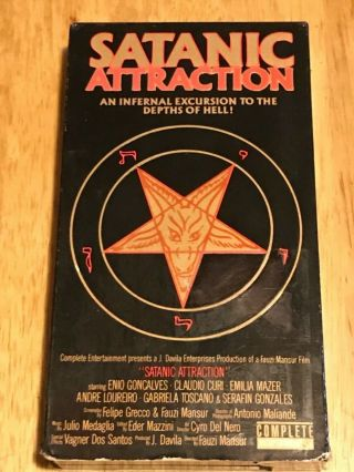 Satanic Attraction Vhs Extremely Rare Horror Gore Brazilian Occult Slasher Htf