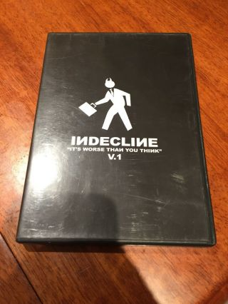 Indecline V.  1 Dvd Very Rare Graffiti Skate Kem Ges Jase Freight Bombing Fights