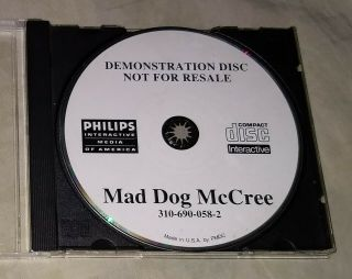 Mad Dog Mccree Full Featured Demo Discs - Rare And Collectible