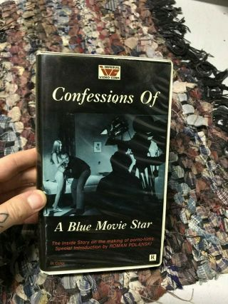 Confessions Of A Blue Movie Star Sexy Sleaze Mega Rare Big Box Slip Rare Oop Vhs